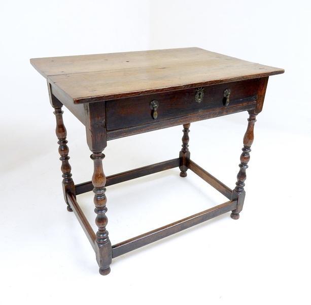 Antique Georgian Oak Side Table