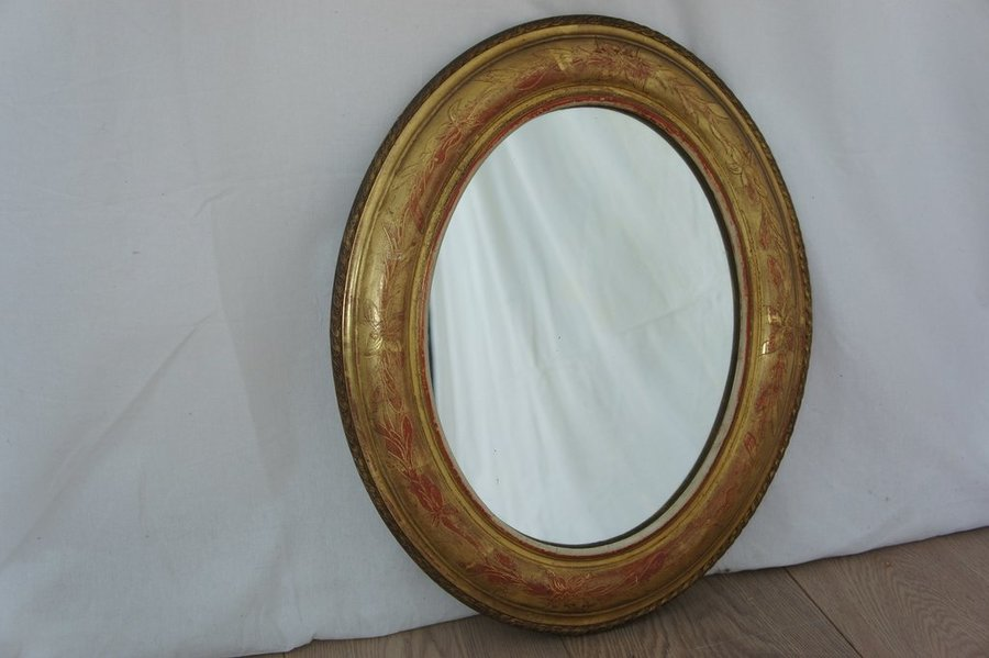 Small Vintage Oval Mirror photo 1
