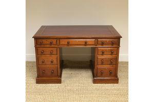 Thumb beautiful victorian antique pedestal desk 0