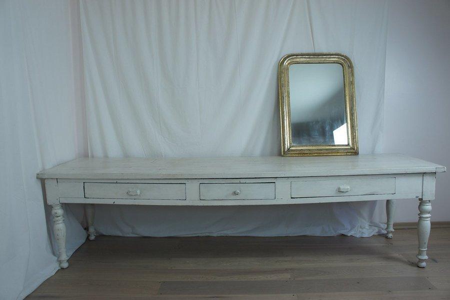Vintage White French Farmhouse Table photo 1