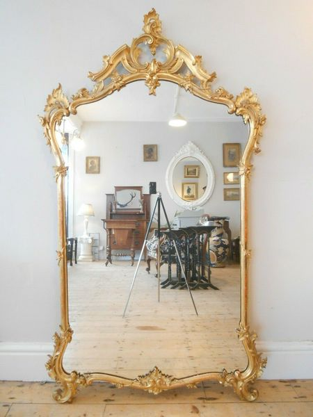Beautiful 19th Century French Gilt Framed Mirror