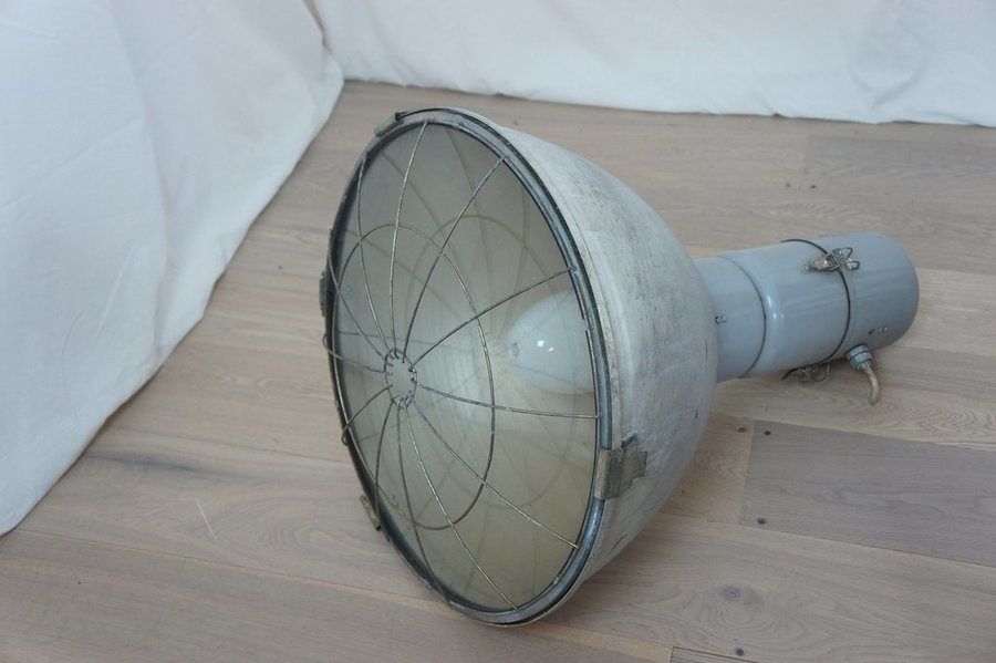 Vintage 1930's Industrial Factory Light photo 1