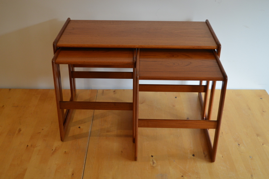 Nest Of 3 Danish Rosewood Tables