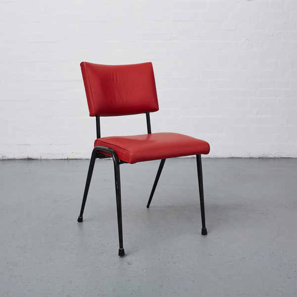 Red Vinyl Stacking Chair