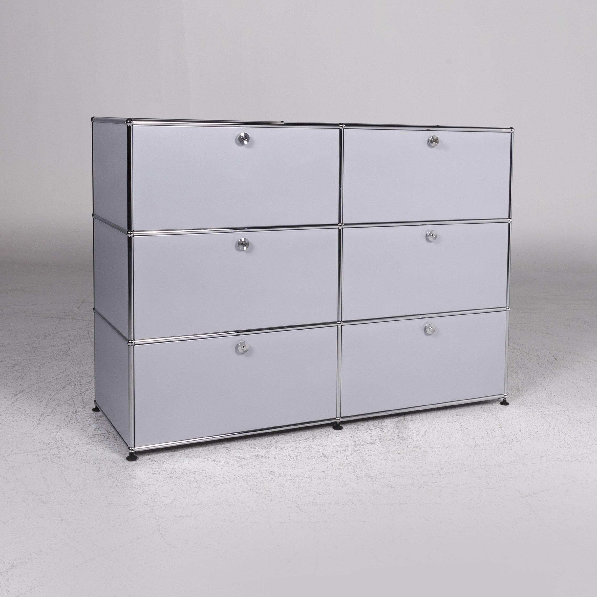 Usm Haller Designer Metal Sideboard Gray Drawers 9302 Usm Haller