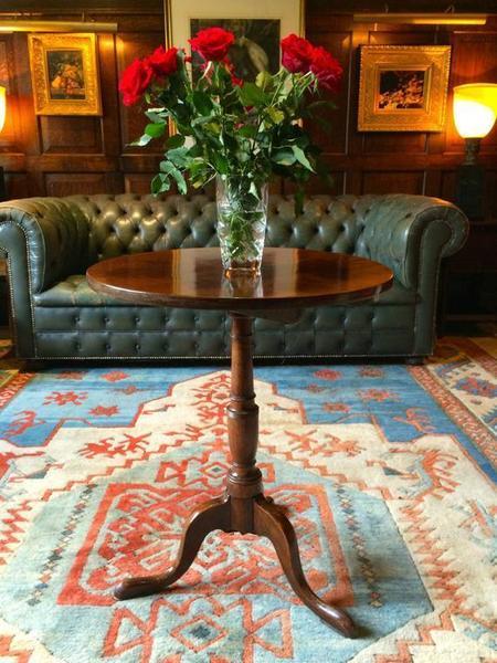 Antique Mahogany Tilt Top Table 19th Century