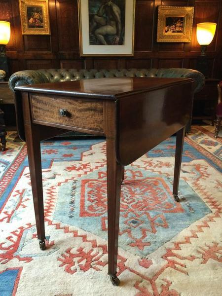Antique George Iii Mahogany Pembroke Dining Table 19th Century