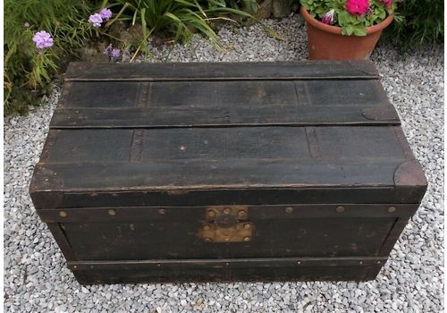 Antique Wood U0026 Metal Chest, Blanket Box, Storage, Toy, To.