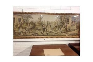 Thumb stunning woven panel tapestry dutch rural life 1800 s 0