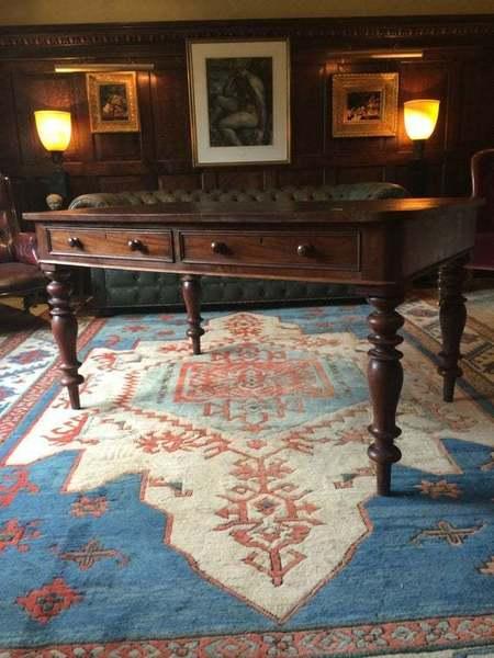 Antique Mahogany Writing Table Desk Victorian 19th Century