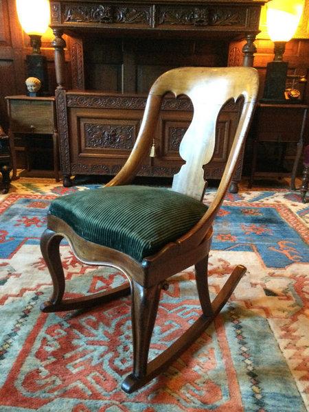 Antique Victorian Rocking Chair Mahogany 19th Century
