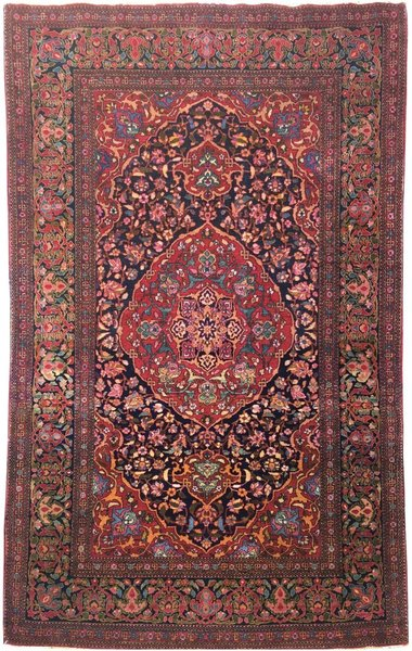 Antique Isfahan Rug 2.27m X 1.41m