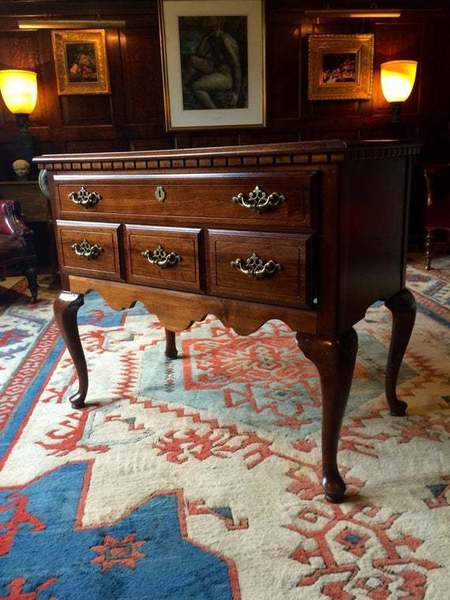 Antique Style Side Table Mahogany Low Boy Chest