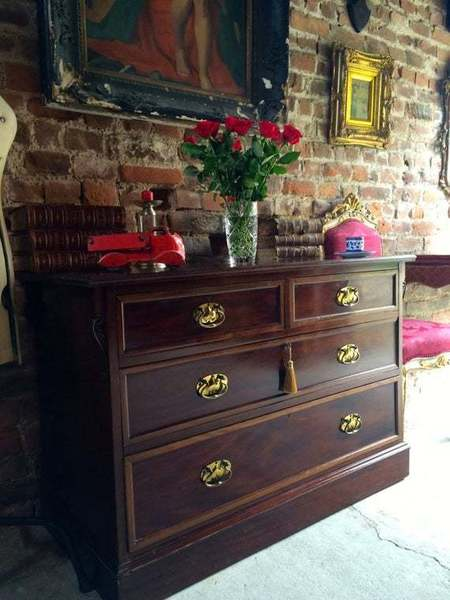 Antique Mahogany Chest Of Drawers 19th Century Victorian