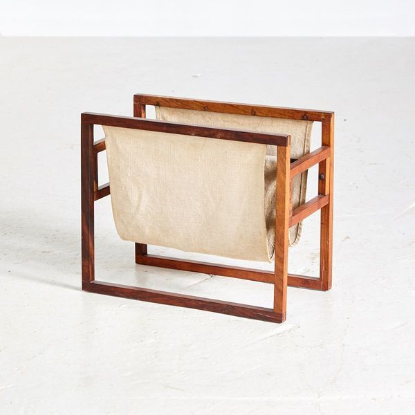 Vintage Rosewood Magazine Rack By Kai Kristiansen For Sika Møbler, 1960s