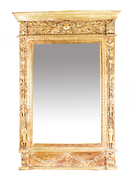 Vintage Stunning Large Ornate Italian Gilded Mirror 141 X 94 Cm Vinterior