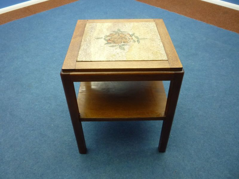 Incredible Art Deco Vintage Side Table Made Of Oak Stone Wood Download Free Architecture Designs Lukepmadebymaigaardcom