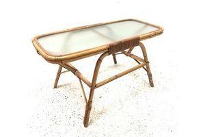 Thumb vintage mid 20th century bohemian french boho bamboo coffee table 0