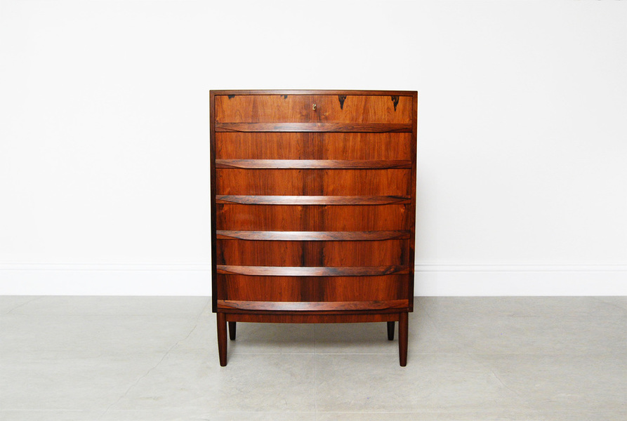 Bow Fronted Rosewood Chest photo 1