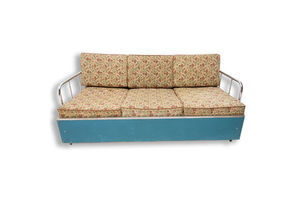 Thumb bauhaus chromed folding sofa bed from 1930 s czechoslovakia 0