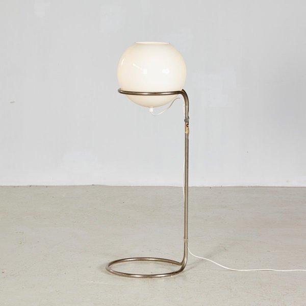 Tubular Bauhaus Floor Lamp By Tibor újházi For Hungarian Arts And Crafts Company, 1970s