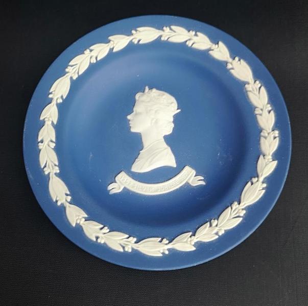 Vintage Wedgwood Jasperware Jubilee Plate Trinket Dish Royal Memorabilia 70 S