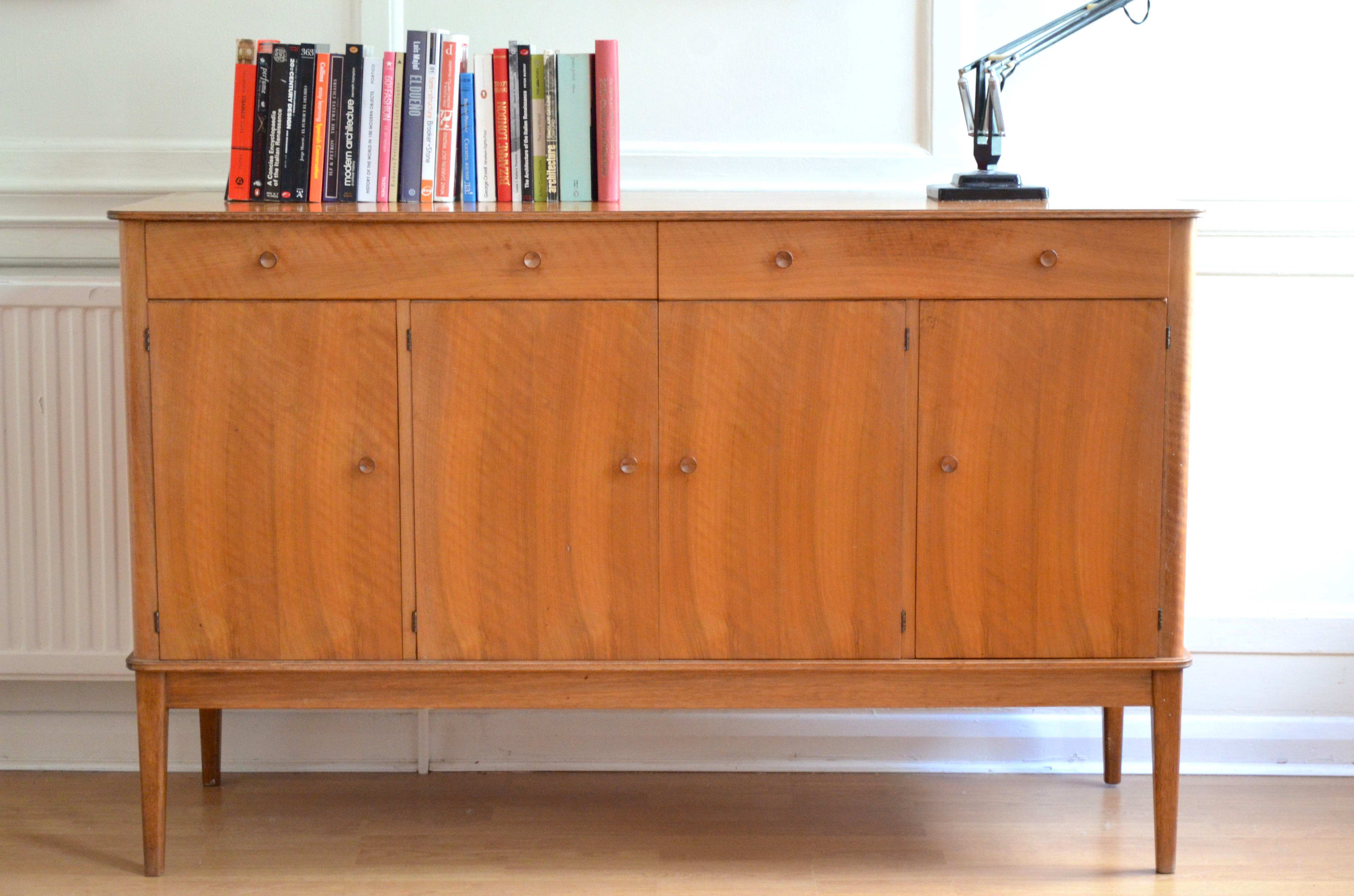 Very Rare Vintage Gordon Russell For Heal S Walnut Sideboard