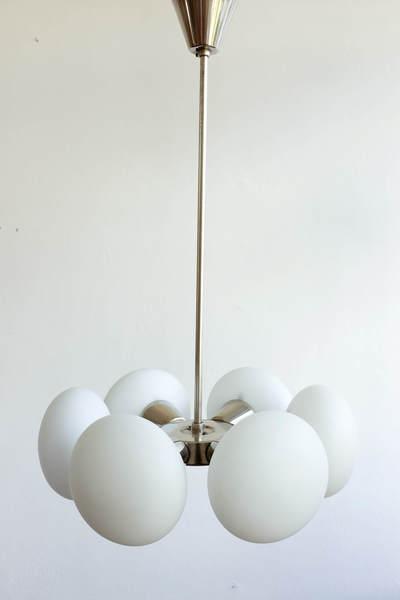 Small Sputnik Chandelier By Kamenický šenov, 1960s