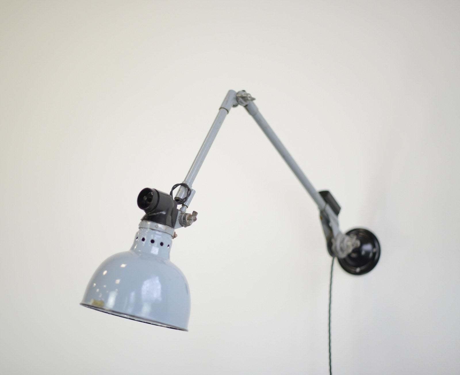 Industrial wall lamp by ernst rademacher circa 1930s vinterior co