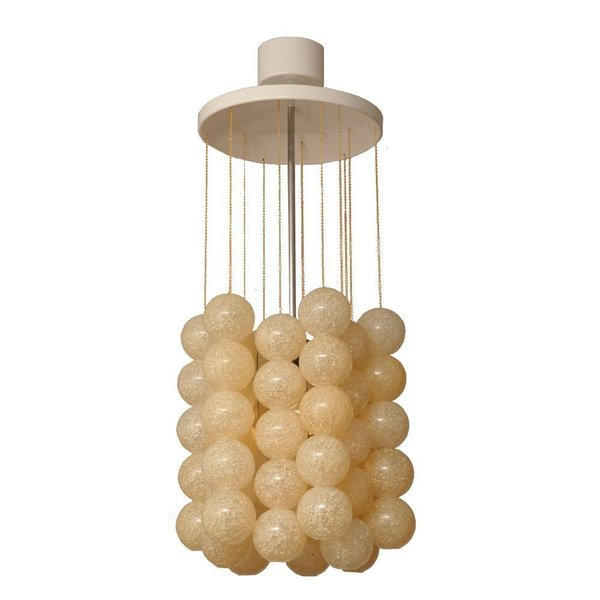 Vintage Metal & Acrylic Chandelier By Josef Hurka For Napako, 1960s