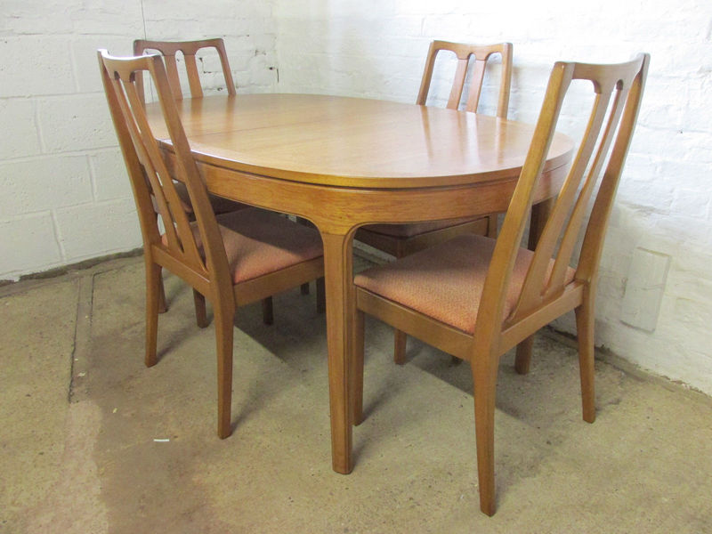 Retro 1960s/1970s Nathan Teak Oval Extending Dining Table ...