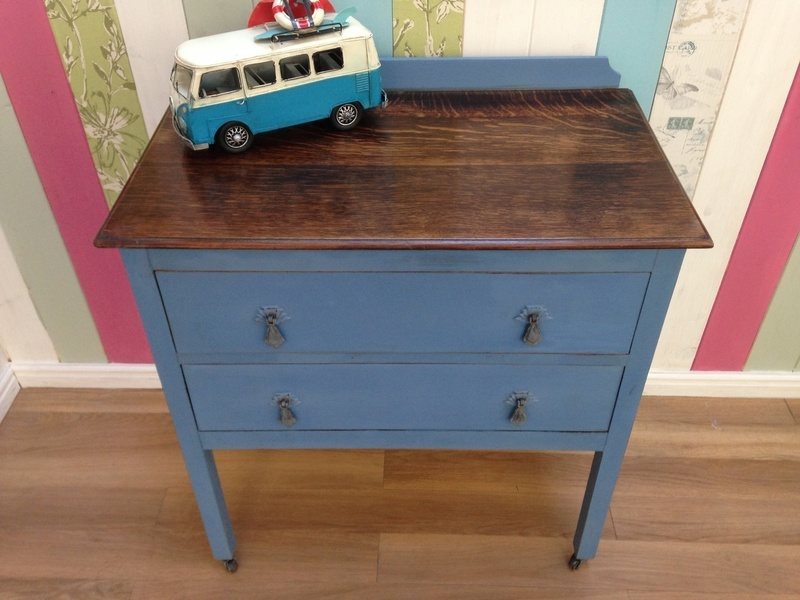 Chest Of Drawers Painted Blue