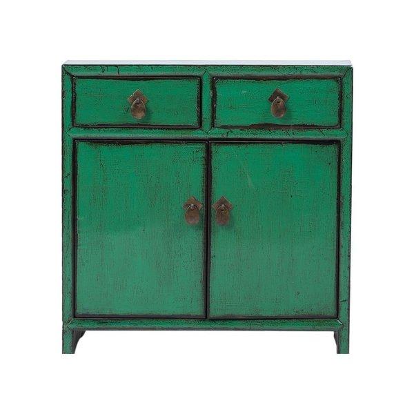 Vintage Chinese 2 Drawer 2 Door Cabinet
