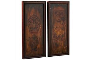 Thumb pair of painted wooden panels 0