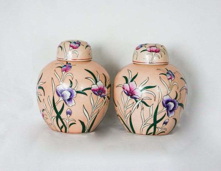 Chinese Oriental Porcelain Ginger Jars