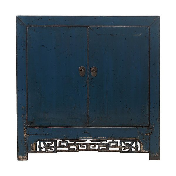 Vintage Chinese Blue 2 Door Cabinet photo 1
