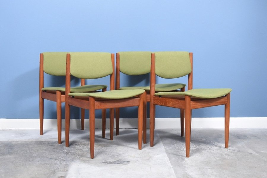Set Of Four Dining Chairs By Finn Juhl