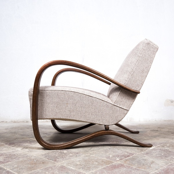 Vintage 1930's Bent Wood Jindrich Halabala Arm Chair H269 For Up Závody In Czech Republic