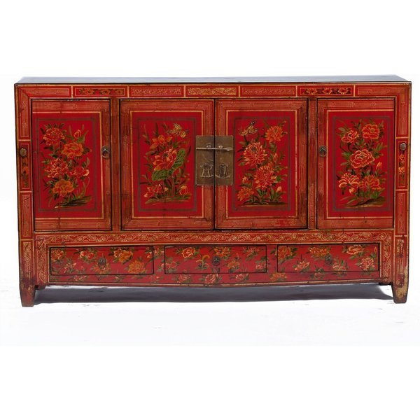 Vintage Chinese Sideboard Cabinet From Dongbei