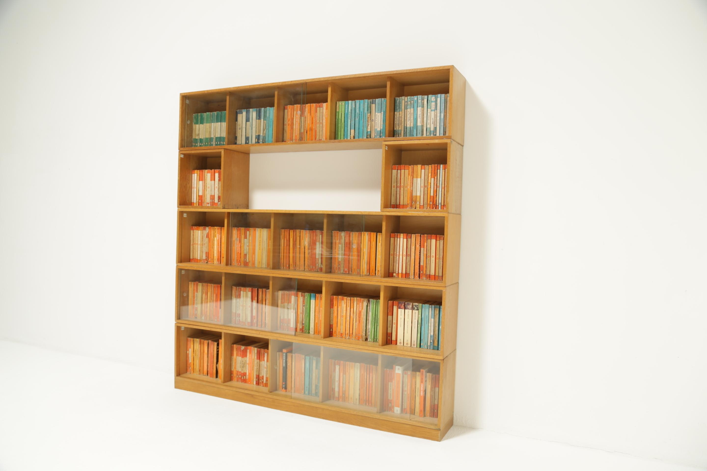 Unix Modular Oak Bookcase By Phoenix Gallery