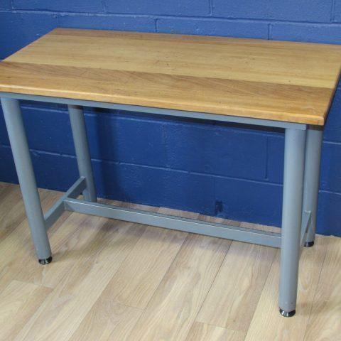 Retro School Bench With Steel Base And Iroko Hardwood Top