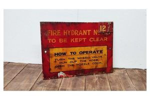 Thumb fire hydrant sign ex michelin factory 0