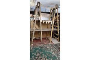 Thumb huge pair of wooden decorator s trestles 0