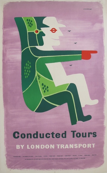 Vintage London Transport Poster, Tom Eckersley   1956