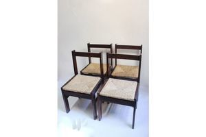 Thumb midcentury rationalist rush woven dining chair 1960s 0
