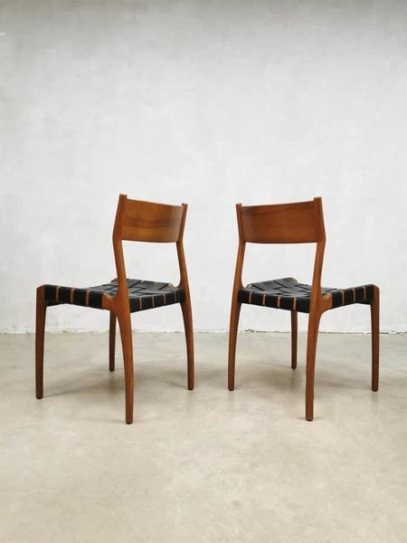 Set Of 4 Vintage Danish Design Dining Chairs Eetkamer Stoelen Deens Vinterior