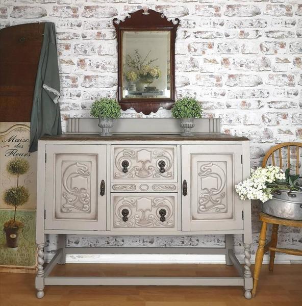 Solid Oak Antique Sideboard