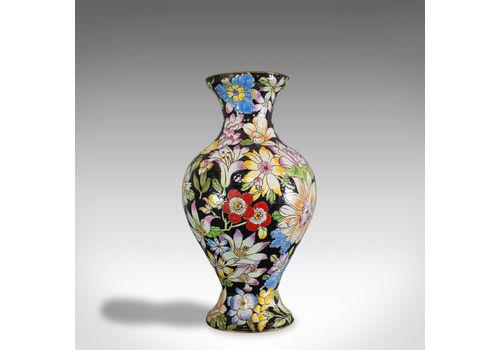 Antique Decorative Vase, French, Cloisonne, Baluster Urn, Victorian, Circa 1880