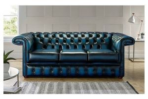 Thumb chesterfield 1857 hockeystick leather sofa 3 seater antique blue 0