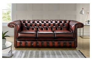Thumb chesterfield 1857 hockeystick leather sofa 3 seater antique light rust 0